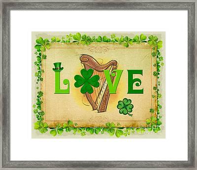 Irish Love Framed Print by Bedros Awak