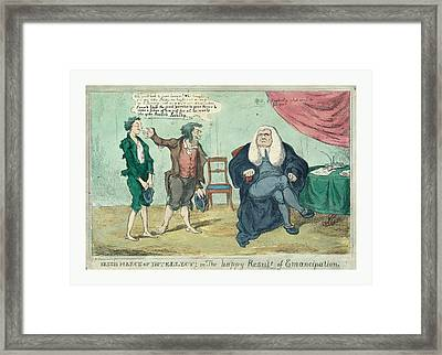 Irish March Of Intellect Or Framed Print by English School