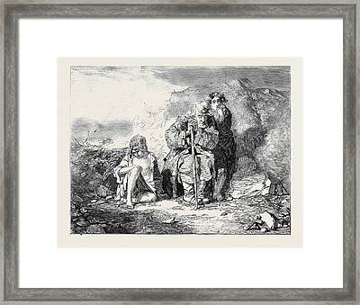 Irish Mendicants Framed Print by Fripp, Alfred Downing (1822-95), English