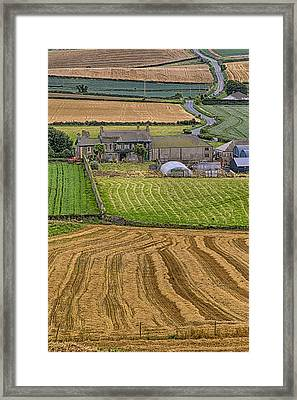 Framed Print featuring the photograph Irish Mosaic by Gary Hall