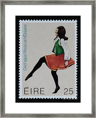 Irish Music And Dance Postage Stamp Print Framed Print by Andy Prendy