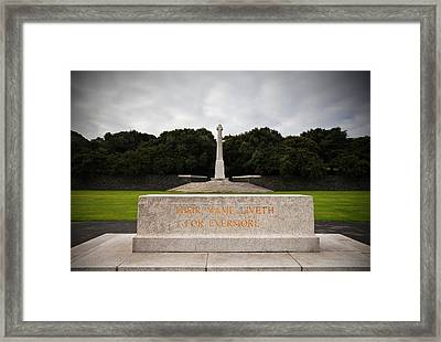 Irish National War Memorial Gardens Framed Print