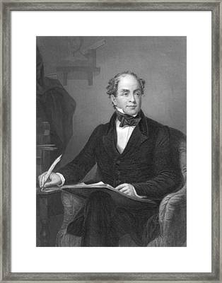 Irish Poet Thomas Moore Framed Print by Underwood Archives