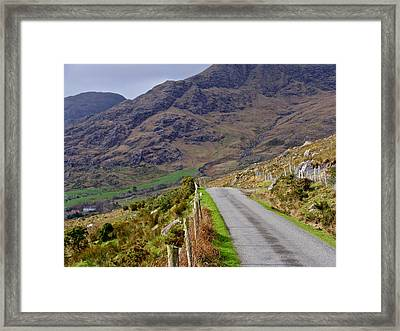 Framed Print featuring the photograph Irish Road by Suzanne Oesterling