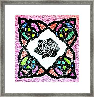 Irish Rose Framed Print by Marita McVeigh