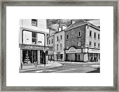 Framed Print featuring the photograph Irish Shops by Juergen Klust