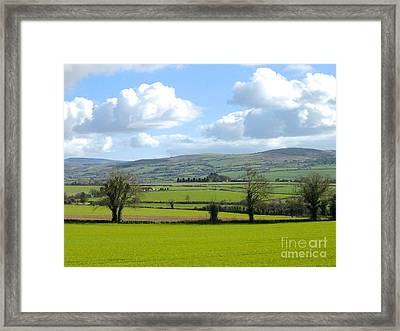 Irish Spring Framed Print by Suzanne Oesterling