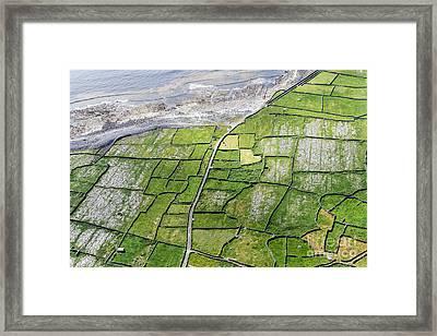 Irish Stone Walls Framed Print by Juergen Klust