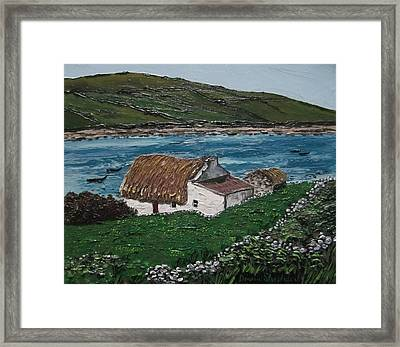 Irish Thatch Cottage Connemara Ireland Framed Print