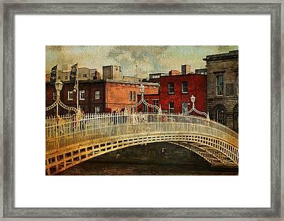 Irish Venice. Streets Of Dublin. Painting Collection Framed Print by Jenny Rainbow