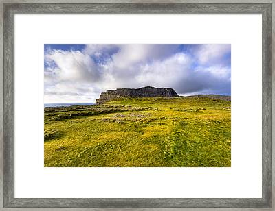 Iron Age Ruins Of Dun Aengus On The Irish Coast Framed Print by Mark E Tisdale