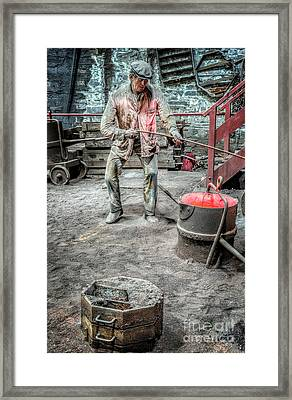 Iron And Brass Foundry Framed Print