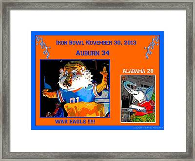 Iron Bowl 2013 Framed Print by Marian Bell
