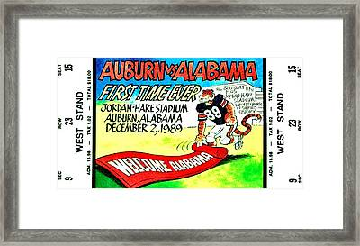 Iron Bowl '89 Framed Print by Benjamin Yeager