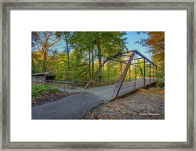 Iron Bridge At Yellow Creek Framed Print