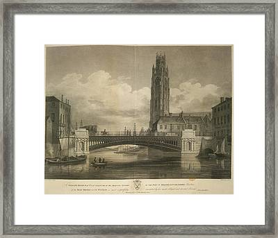 Iron Bridge Over The Witham Framed Print by British Library