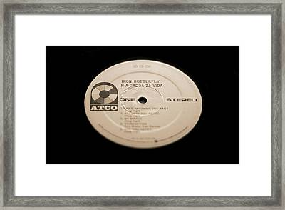 Iron Butterfly Record Framed Print