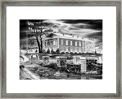 Iron County Courthouse IIi - Bw Framed Print by Kip DeVore