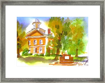 Iron County Courthouse In Watercolor Framed Print by Kip DeVore