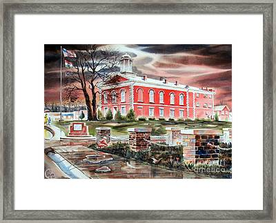 Iron County Courthouse No W102 Framed Print