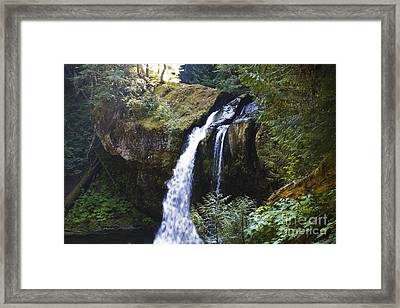 Iron Creek Falls Framed Print by Rich Collins