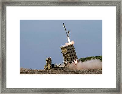 Iron Dome Framed Print by Photostock-israel