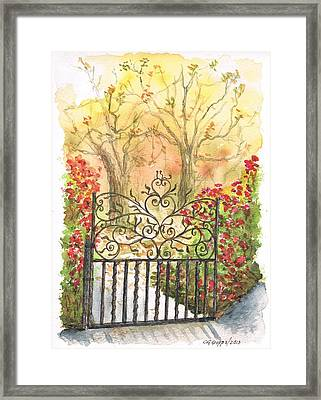 Iron Door In West Hollywood - California Framed Print