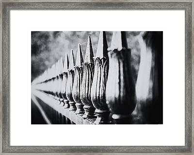 Iron Fence Framed Print by Ryan Wyckoff