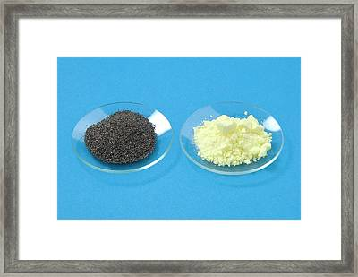 Iron Filings And Sulphur Framed Print by Trevor Clifford Photography