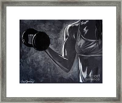 Iron Girl Framed Print