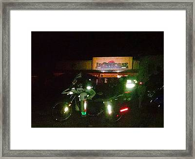 Iron Horse Lodge Evening Framed Print