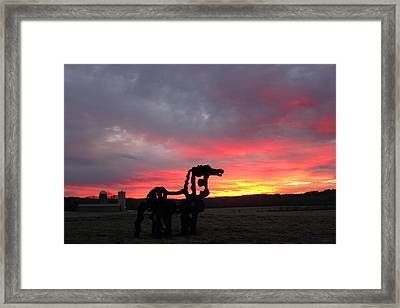 Iron Horse Waiting Framed Print by Reid Callaway