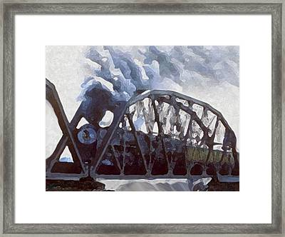 Iron Horses And Iron Bridges Framed Print by Dennis Buckman
