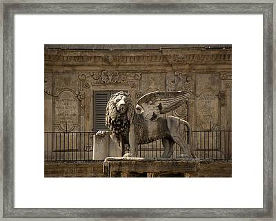 Iron Lion Zion.. Framed Print by A Rey