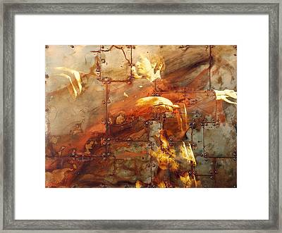 Iron Maiden I Framed Print by Angie Wingerd