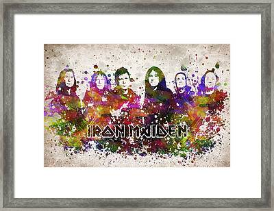 Iron Maiden In Color Framed Print by Aged Pixel