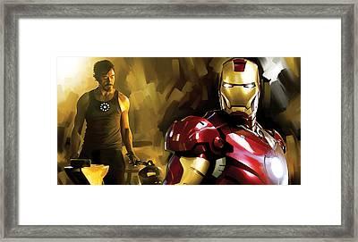 Iron Man Artwork Framed Print by Sheraz A