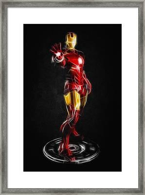Iron Man Framed Print by - BaluX -