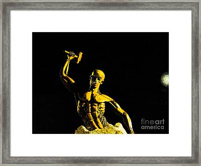 Iron Man II Framed Print by Al Bourassa