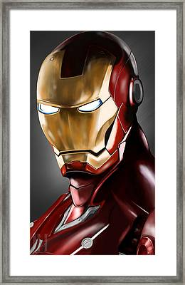 Iron Man Painting Framed Print