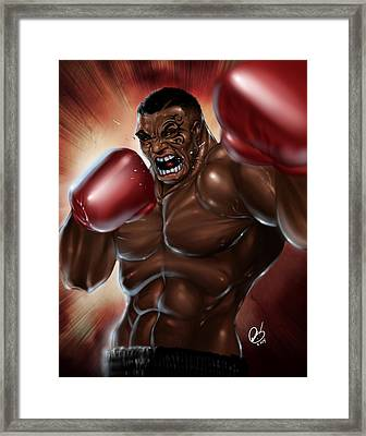Iron Mike Framed Print by Pete Tapang