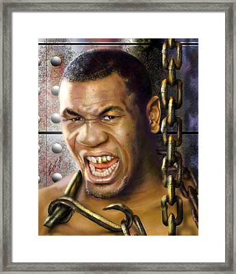 Iron Mike Tyson-no Blood No Glory 1a Framed Print by Reggie Duffie
