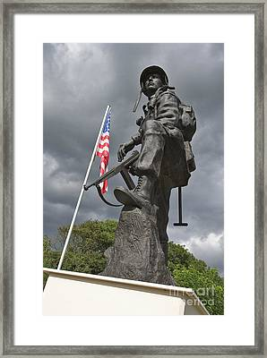 Iron Mike Us Airborne Forces Memorial St Mere Eglise Normandy France Europe Framed Print by Jon Boyes