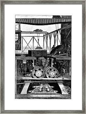 Iron Ore Crusher Framed Print by Science Photo Library