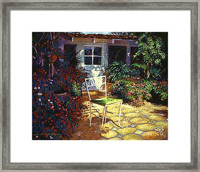 Iron Patio Chair Framed Print by David Lloyd Glover