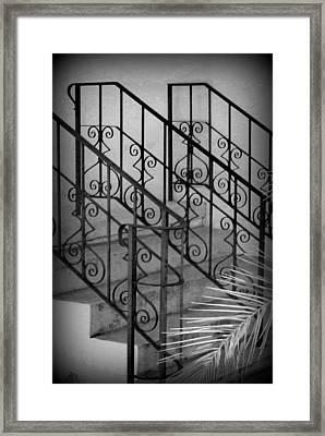 Iron Railing Abstract Framed Print