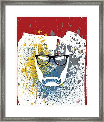 Iron-ray-ban-man Framed Print by Decorative Arts
