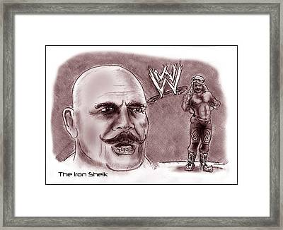 Iron Sheik Framed Print by Chris  DelVecchio
