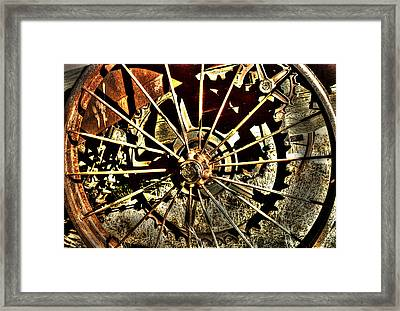 Iron Spokes Framed Print by Craig T Burgwardt