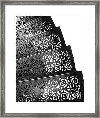 Iron Stairs Framed Print